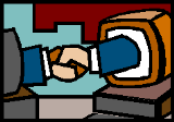 computers shaking hands